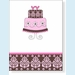 Pink Damask Cake Notes - click to enlarge