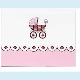 Pink Damask Carriage Notes - click to enlarge