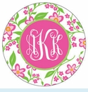 Pink Flower Personalized Mirror