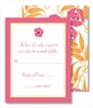 Pink Flower Pink Border Small Flat Cards