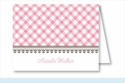 Pink Gingham Note Cards