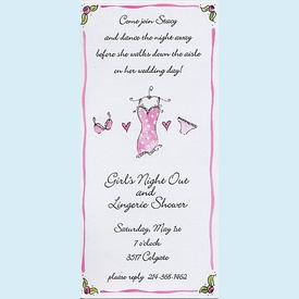 Pink Lingerie Invitation - click to enlarge