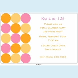 Pink & Orange Confetti Invitation - click to enlarge