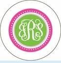 Pink Reverse Dot Personalized Mirror