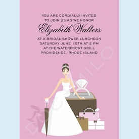 Pink Ring Bride Invitation - click to enlarge