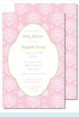 Pink Sweet Floral Large Flat Invitation