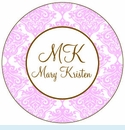Pink Toile Personalized Mirror