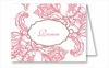 Pink Wood Cut Floral Note Cards