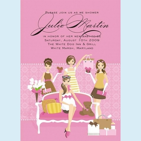 Pinkalicious Shower Invitation - click to enlarge