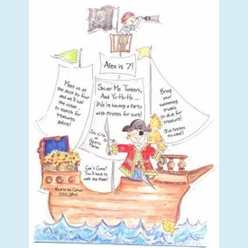 Pirate Ship Invitation - click to enlarge