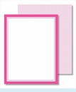 Plain Border Small Flat Cards - 13 colors!