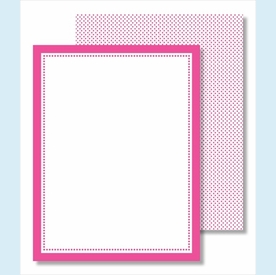 Plain Border Small Flat Cards - 13 colors! - click to enlarge
