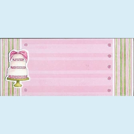 Polka Cake on Pink Backer Invitation - click to enlarge