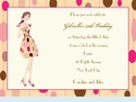 Polka Dot Martini Girl Invitation