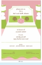 Preppy Boudoir Linens Shower Invitation