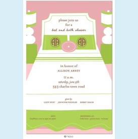 Preppy Boudoir Linens Shower Invitation - click to enlarge