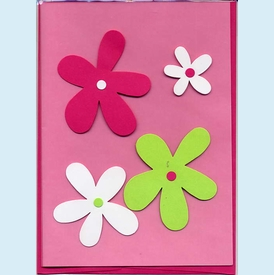 Preppy Flowers Birthday Card - click to enlarge