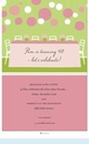 Preppy Patio Table Invitation