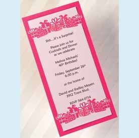 Presents LaserCut Invitation - click to enlarge