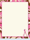 Pretty Pink Ribbon Flat Cards
