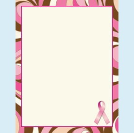 Pretty Pink Ribbon Flat Cards - click to enlarge