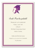 Pretty Purple Grad Invitation