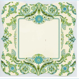 Princess Square Deckle/Rib Invitation - click to enlarge