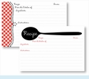 Recipe Box - Black Spoon & Red Gingham