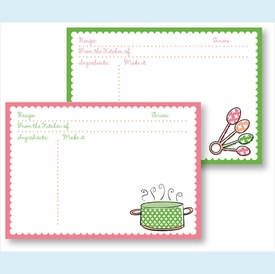Recipe Box - Green Pot & Multi Spoons - click to enlarge