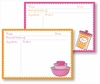 Recipe Box - Pink Bowls & Orange Canister