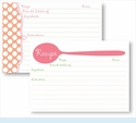 Recipe Box - Pink Spoon & Coral Dots