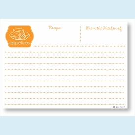 Recipe Cards - Appetizers, Orange - click to enlarge