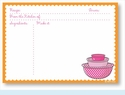 Recipe Cards - Bowls w/ Orange Scalloped Border