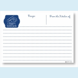 Recipe Cards - Breads, Navy - click to enlarge