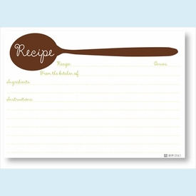 Recipe Cards - Brown Spoon - click to enlarge