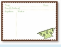 Recipe Cards - Colander w/ Brown Scalloped Border