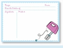 Recipe Cards - Mixer w/ Light Blue Scalloped Border