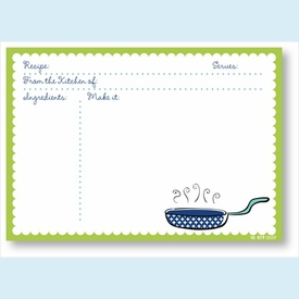 Recipe Cards - Pan w/ Lime Scalloped Border - click to enlarge