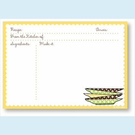Recipe Cards - Plates w/ Yellow Scalloped Border - click to enlarge