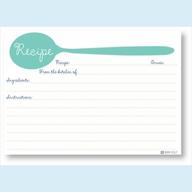 Recipe Cards - Turquoise Spoon - click to enlarge