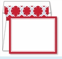 Red Border Small Flat Cards w/Coordinating Liner