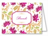 Red/Fuchsia Botanical Note Cards