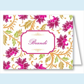 Red/Fuchsia Botanical Note Cards - click to enlarge