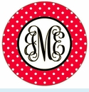 Red/Green Dot Personalized Magnet