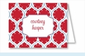 Red/Light Blue Medallion Note Cards
