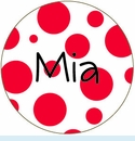 Red Spots Personalized Mirror