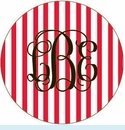 Red Stripe Personalized Magnet