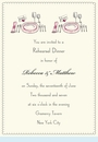 Rehearsal Dinner Sparkled Invitation
