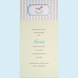 Rocking Horse Invitation - click to enlarge