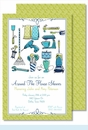 Round the House Icons Large Flat Invitation